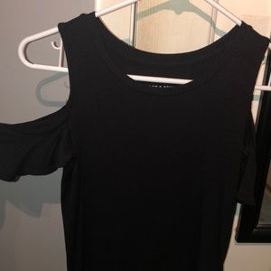 Black Soft & Sexy AE ribbed open shoulder top XS
